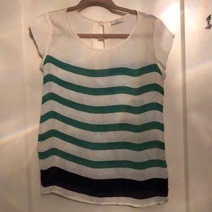 Shear striped shirt